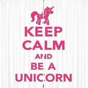 Curtains Keep Calm Unicorn Print Backdrop 54184